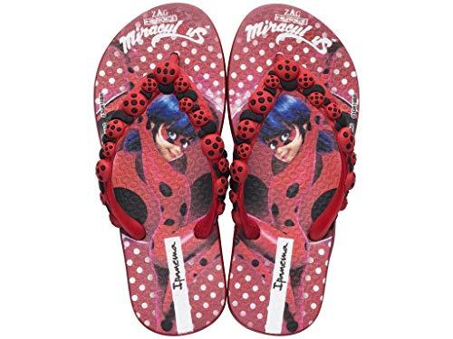 IPANEMA Chanclas DE Goma Ladybug NIÑA 2612322491 Rojo Tamaño: 33/34