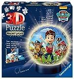 Ravensburger 3D Puzzle Nachtlicht Paw Patrol - Puzzleball für Kinder ab 6 Jahren, LED...