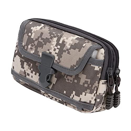 ALUNVA Bolsa de Cintura Corriente Bolsa de Deportes Caja de teléfono móvil Accesorios de Aptitud Bolso de Fitness FQYXLX (Color : Grey Camouflage)