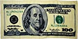 Novelty Stores Online Big Money $100 Hundred Dollar Bill 30x60 Cotton Beach Towel by