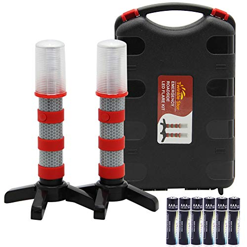 Twinkle Star Emergency Roadside Flares Kit LED Safety Strobe Road Warning Light Highway Beacon Alert Flare