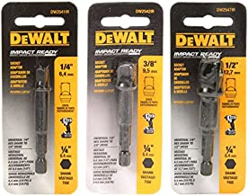 DeWalt Impact Driver Ready 3-Piece Socket Adapter Set DW2541IR, DW2542IR, DW2547IR