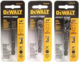 DeWalt DW2541IR, DW2542IR, DW2547IR, juego de adaptador de enchufe de 3 piezas para atornillador de impacto