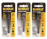 DeWalt Impact Driver Ready 3-Piece Socket Adapter Set DW2541IR, DW2542IR, DW2547IR