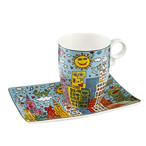 Goebel City Day - Künstlerbecher Pop Art James Rizzi Bunt Fine Bone China 26102191