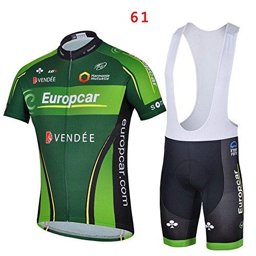 logas Outdoor-Sport Herren Team Kurzarm Fahrradtrikot und Bib Shorts Set Größe S-XXXL