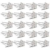 Yantu Womens Flower Hair Pins Hair Pins for Wedding Hair Clips with Crystal (Pack of 20) (Five flower crystal)