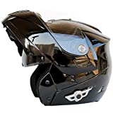 Motorcycle Bluetooth Helmet, Modular Flip-Type Double Sun Visor Full Helmet, DOT Certified Helmet, Built-in Mp3 FM...