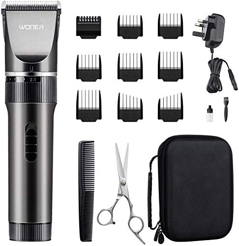 WONER Mens Hair Clippers, Cordless Rechargeable Men's Hair Trimmer,...