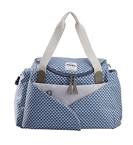 Béaba Sydney II - Bolso cambiador bebé, espacioso, blue marsala