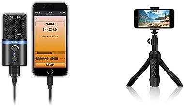 Pro Video & Live-Streaming Kit - iKlip Grip Pro smartphone stand, iRig Mic Studio USB condenser mic