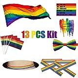 SOPHKO LGBT Bandera Arcoiris Conjunto 90x150cm Arco Iris Bandera Gay Orgullo LGBT...