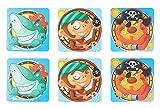 1MI Unishop 6 Piezas Pegatinas Antideslizante Infantiles para Bañera, Adhesivos para Bañera y Ducha con Dibujos de Niños y Bebés, Accesorios de Baño (Tipo 3)