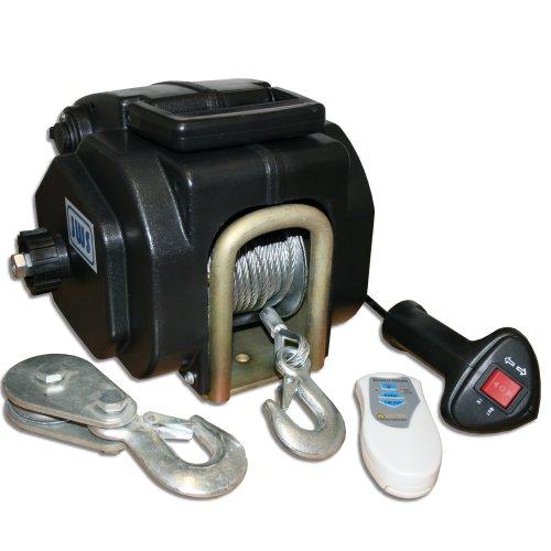 Bootswinde Elektrische Seilwinde 12V mit Funkfernbedienung