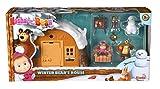 Simba 109301023 - Mascha und Der Bär Spielset Winter Bärenhaus