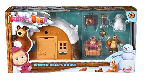 Simba - Masha e Orso Playset Casa Inverno, inclusi Masha e Orso, + 3 anni 109301023