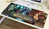 CAIYI World of Warcraft Alfombrilla de ratón de Juego Mouse Pad, Grande Alfombrilla para Gamers,Wow Alfombrilla de ratón Blizzard (900 × 400× 2 mm / 35.5 × 15.8 × 0.1 Inch, 1)