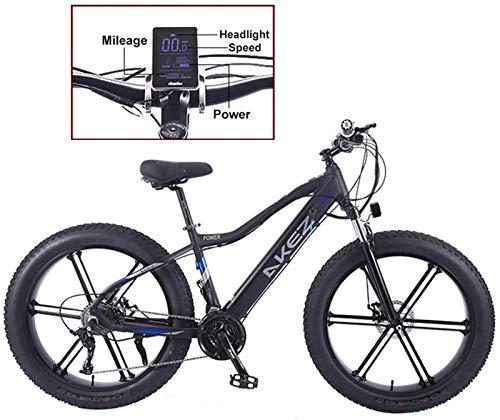 Bicicleta eléctrica de nieve, Bicicleta eléctrica 26 'Ebike con 36V 10AH Batería de litio Bicicleta híbrida de montaña para adultos 27 Velocidad 5 Sistema de potencia de velocidad de velocidad Frenos