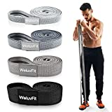 WeluvFit Pull Up Assistance Bands, Long Resistance Bands Set of 4, Fabric Elastic Workout Exercise...