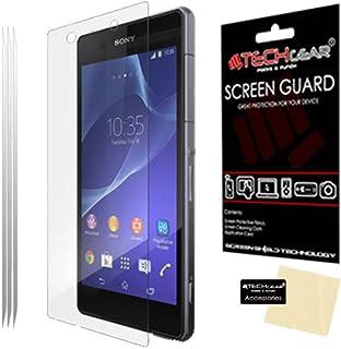 TECHGEAR [3-pack] skärmskydd för Xperia Z2 – Premium LCD-skärmskydd skydd skydd skydd kompatibel med Sony Xperia Z2