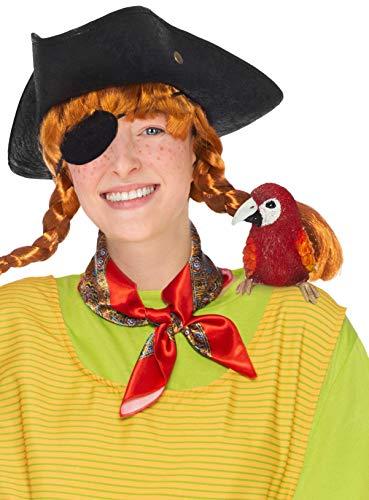 Maskworld Pippi Langstrumpf Papagei Rosalinda Schulterfigur - Verkleidung Accessoire Zubehör zum Kostüm - Karneval, Fasching & Motto-Party