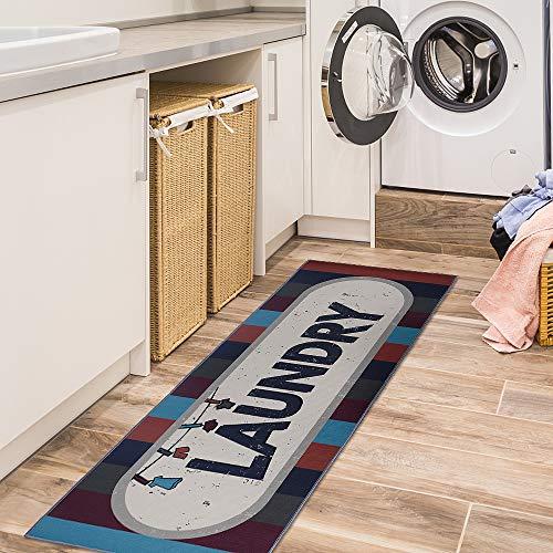 Carvapet Laundry Room Decorative Printed Runner Rug
