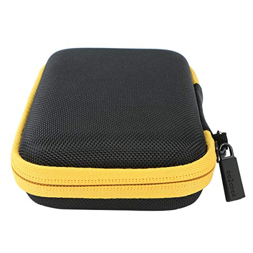 co2crea Hard Travel Case for Polaroid Mint Instant Print Digital Camera/Pocket Printer (Black Case + Yellow Zipper)