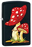 Mushroom Zippo Outdoor Indoor Windproof Lighter Free Custom Personalized Engraved Message Permanent Lifetime Engraving on Backside