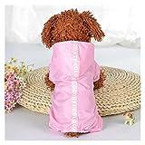 FKSDHDG Chubasqueros impermeables para perros pequeños, chihuahua yorkie para perros, chubasquero, poncho para cachorros (color: rosa, tamaño: XS)