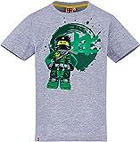 Lego Ninjago T-Shirt Jungen Grau - grün Ninja Kinder 6 7 8 9 10 Jahre Oberteil Gr.128