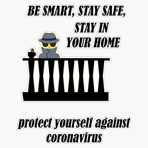 Coronavirus Vinyl Bumper Sticker Decal 5'