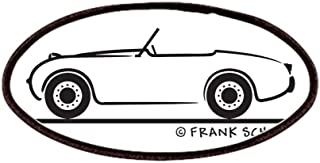1959 Austin Healey Sprite Patches - Patch, 4x2in Printed Novelty Applique Patch