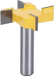 CNC spoilboard ytrouter bit, 1/2 tum skaft, 2 tum skär diameter 4-blad T typ fräs träbearbetning verktyg (4-blad T typ skä...