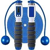 Cuerda de Saltar de Conteo Digital Cuerda de Salto de Fitness Ajustable Combas sin Cable con Contador de Caloría de Número Electrónico Inteligente para Niños Adultos Deporte Extrior Interior (Rojo)