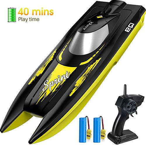 SYMA RC Boot 2.4GHz Fernbedienung Schnell Boot Spielzeug High-Speed Racing Boot mit Starker Kraft Geschenk für Anfänger und Kinder