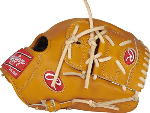 Rawlings Heart of The Hide Baseball Glove, Tan, 12 inch, 2-Piece Solid Web, Right Hand Throw
