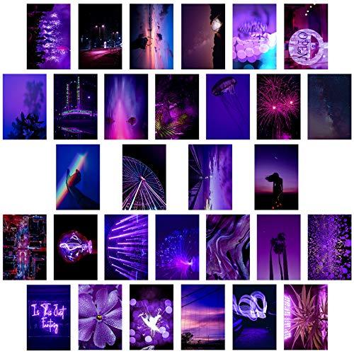MWOOT 30 Piezas Decoración Pared Collage Imagen Estética Dormitorio Niñas 10X15CM Conjunto Póster Impresión Adolescentes Estudiantes Decoración Habitación Dormitorio Universitario , Póster de Papel