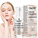 Fondation liquide, liquid foundation, Fond de teint changeant de couleur, Base de...