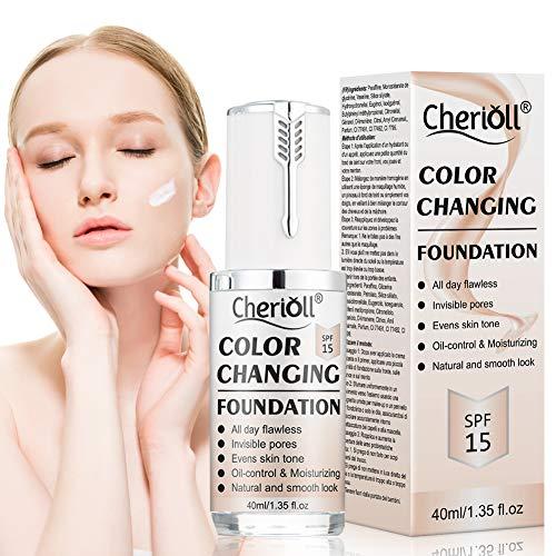 Base de Maquillaje, Base Líquida, Hidratante Líquido Base,Base de maquillaje Cobertura completa Nuevo, Maquillaje de Larga Duración