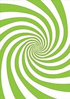 igsticker ポスター ウォールステッカー シール式ステッカー 飾り 1030×1456㎜ B0 写真 フォト 壁 インテリア おしゃれ 剥がせる wall sticker poster 006540 チェック・ボーダー うずまき 黄緑