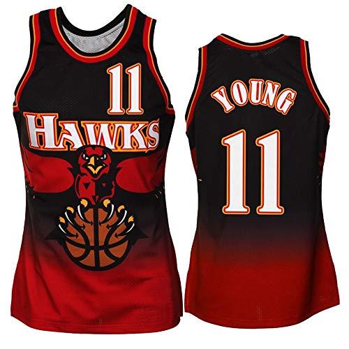 Atlanta Hawks, 11# Eagles Baloncesto Bordado, NBA, Baloncesto la formación Deportiva con Cuello en V sin Mangas del Chaleco,11 Classic Red,S=46