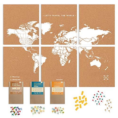 Push Pin Travel Map Kit