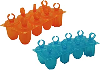 Ring Pops Popsicle Molds (2 Trays) - Gem Shaped 16 Molds, Colors Vary