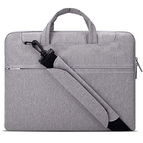 Lacdo 14 Inch Laptop Shoulder Bag Sleeve Case for ASUS VivoBook E402YA/Chromebook C423, MateBook D 14, HP Stream 14, Acer Swift 1/Chromebook 14, Lenovo IdeaPad Slim 1, Dell Inspiron Notebook Bag, Gray