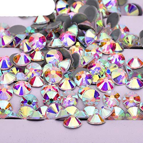 OQQE SS 6 10 16 20 30 Venta al por Mayor de Cristales AB Hot Fix Glass Rhinestone Flatback Iron en Strass a Granel Hotfix Crystal Stones