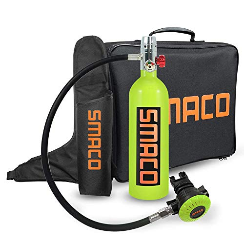 Équipement de plongée sous-marine paquets, 1 litre cylindre avec 15-20 minutes Capacité, plongée sous-marine oxygène réservoir avec pompe sous-marine Breath appareil, pour la sauvegarde d'urgence