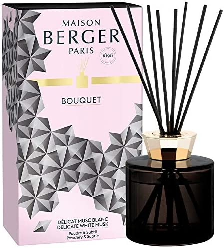 Large-scale sale Lampe Berger Scented Bouquet with - Reed Crystal Max 86% OFF Black Sticks