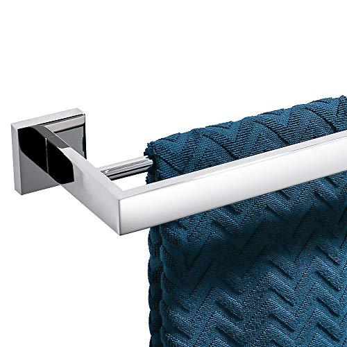 Turs sus 304 acero inoxidable toalla toallero estante de baño con doble barra cuadrada toallero rack montaje en pared, acabado pulido, K7005P
