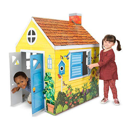 Melissa & Doug Cardboard Structure Cottage Playhouse 55' x...