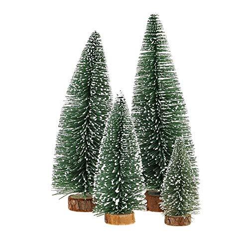KKSHINE Desktop Miniature Pine Tree tabletop christmas tree small pine tree decor christmas tree toppers